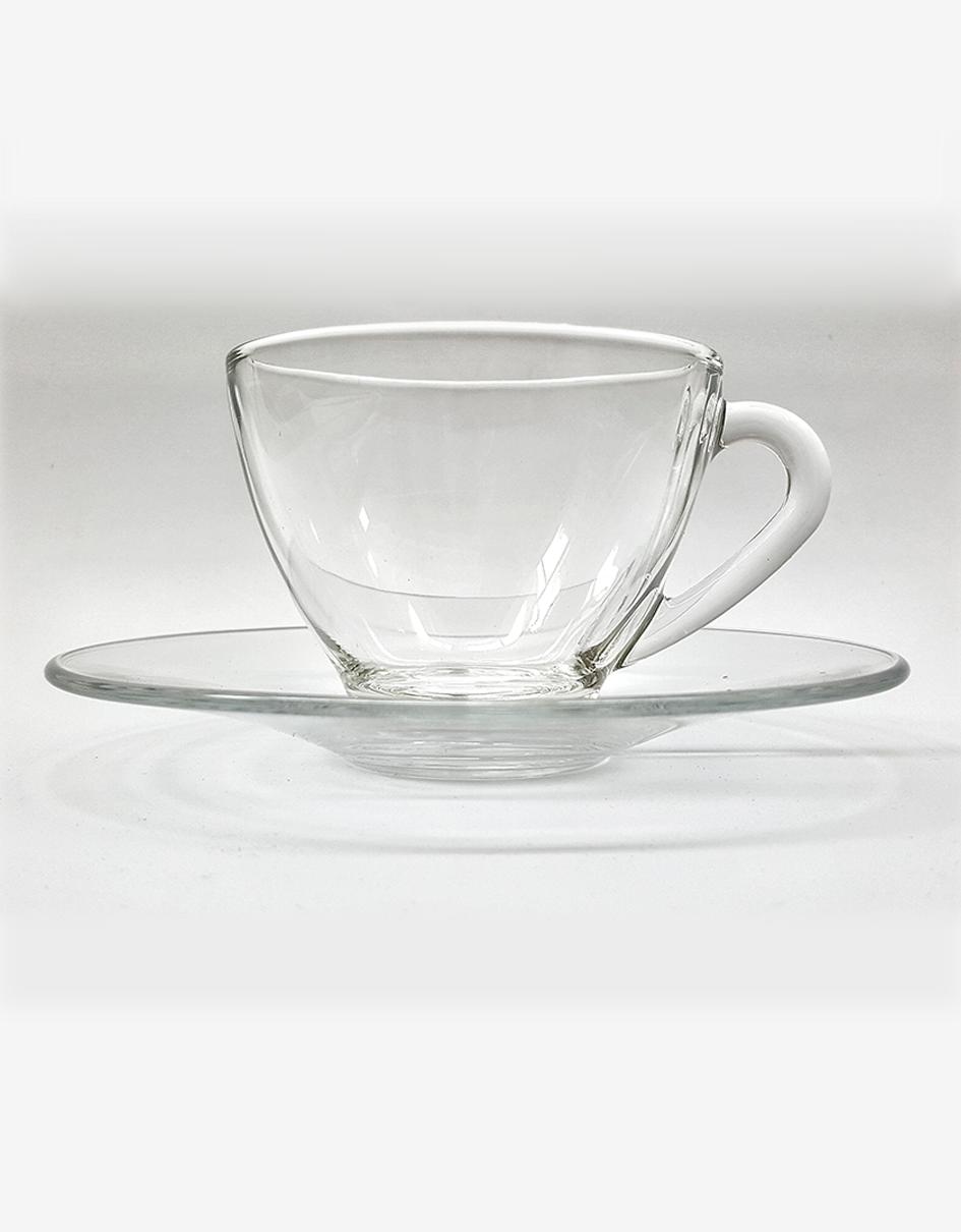 Gl Tea Cup And Saucer Set