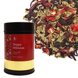 Happy Hibiscus Loose Leaf Canister