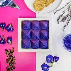 Lavender Blue Tea Pyramids