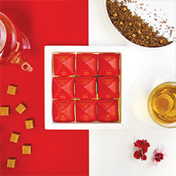 Ruby Red Tea Pyramids