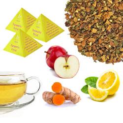 Turmeric Tryst Tea Pyramids